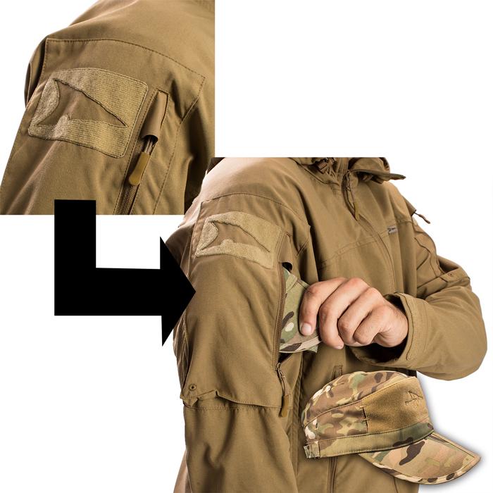 肩部に収納スペース