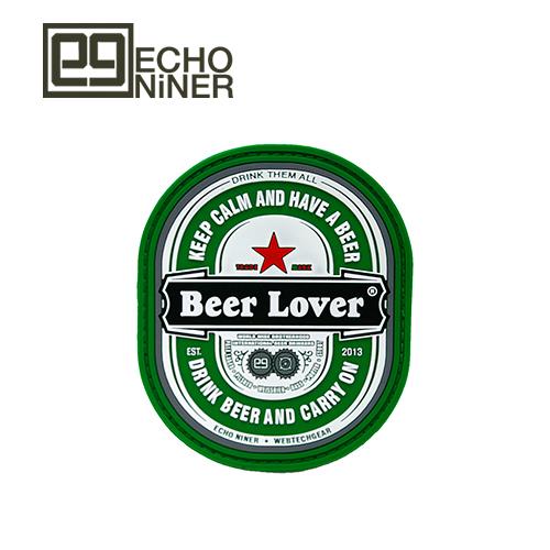 ECHO NINER BEER LOVER PVC PATCH