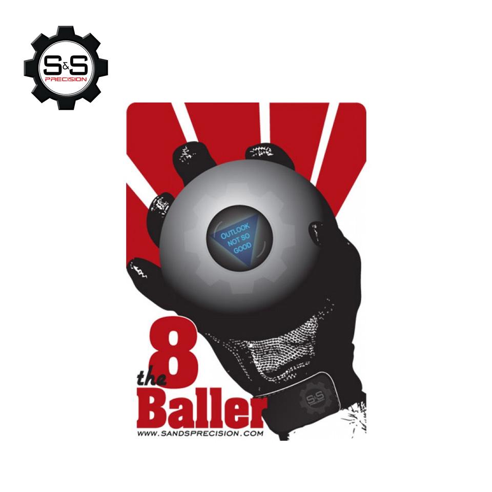 8-BALLER Sticker