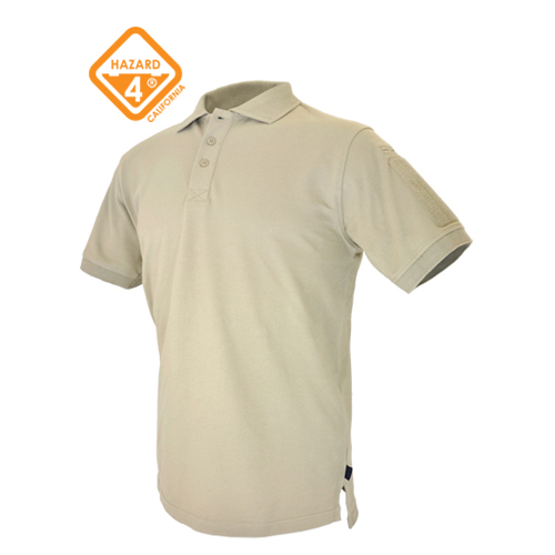 Undervest Plain Front Battle Polo - Tan / L