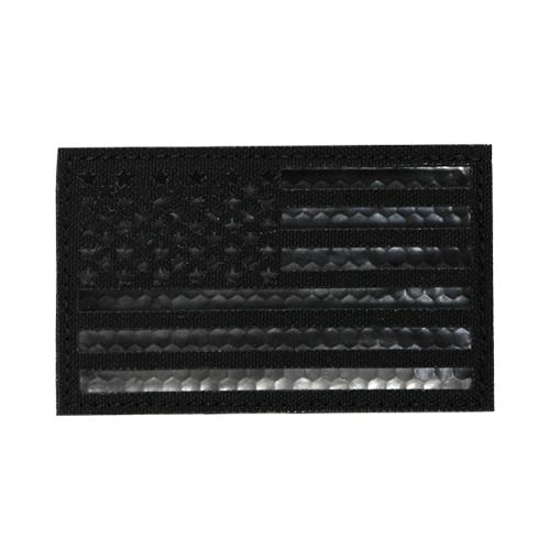 IR Patch-US Flag L - Black