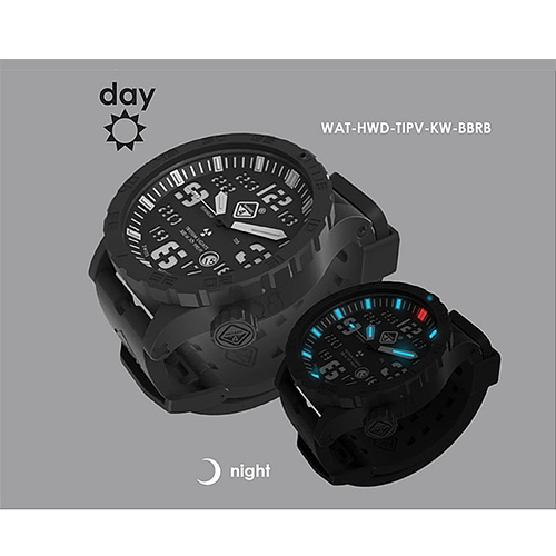 Heavy Water Diver - BLK PVD, BLK Dial/WHT Graphics