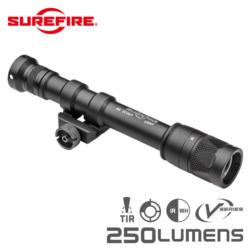 M600V AA IR SCOUT LIGHT - Rail-Mountable LED WeaponLight - White and IR Output【EAR対象製品】