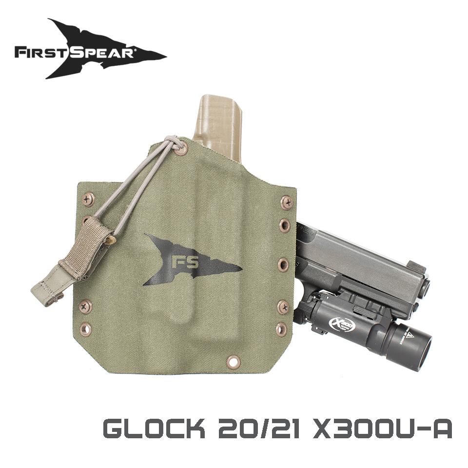 SSV Pistol Holster, Weapon Light - Glock 21 X300U-A