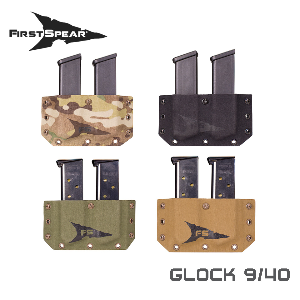 SSV Belt Mounted Double Magazine Pocket, Pistol - Glock 9/40