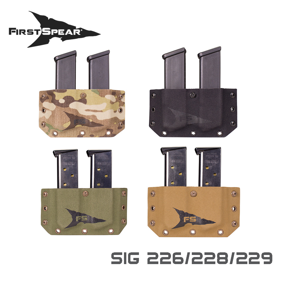 SSV Belt Mounted Double Magazine Pocket, Pistol - Sig 226
