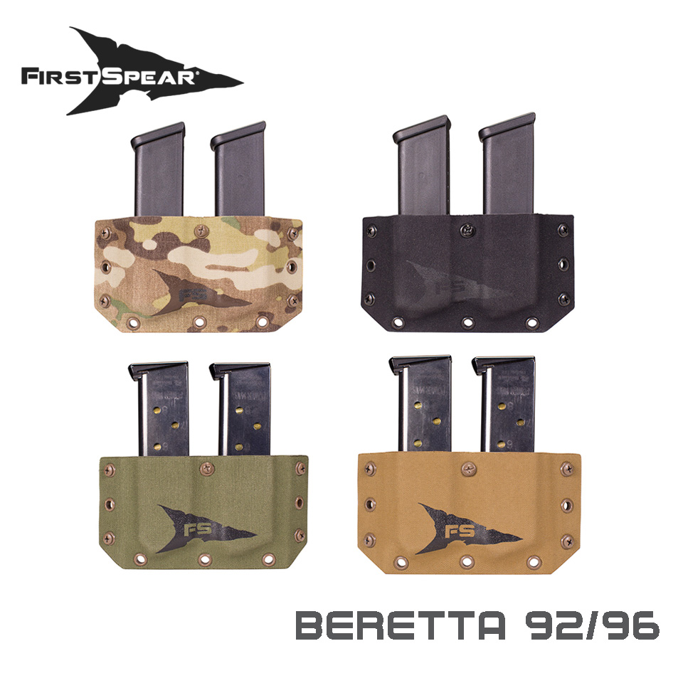 SSV Belt Mounted Double Magazine Pocket, Pistol - Beretta 92/96