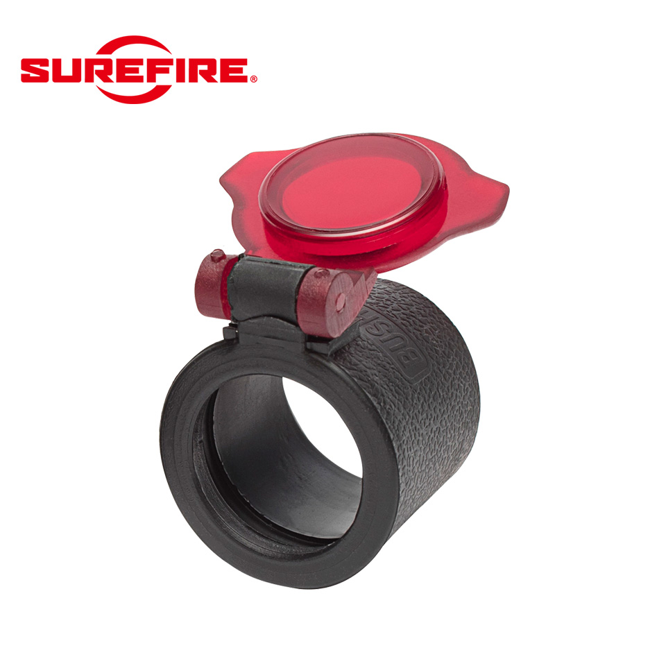 SLIP ON FILTER FOR 1.25 INCH FLASHLIGHT BEZELS RED