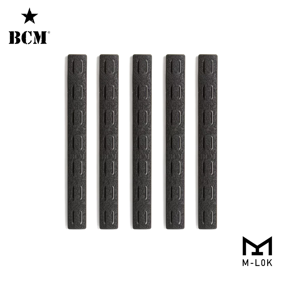 BCM M-Lok Rail Panel Kit, 5.5-inch (FIVE Pack)