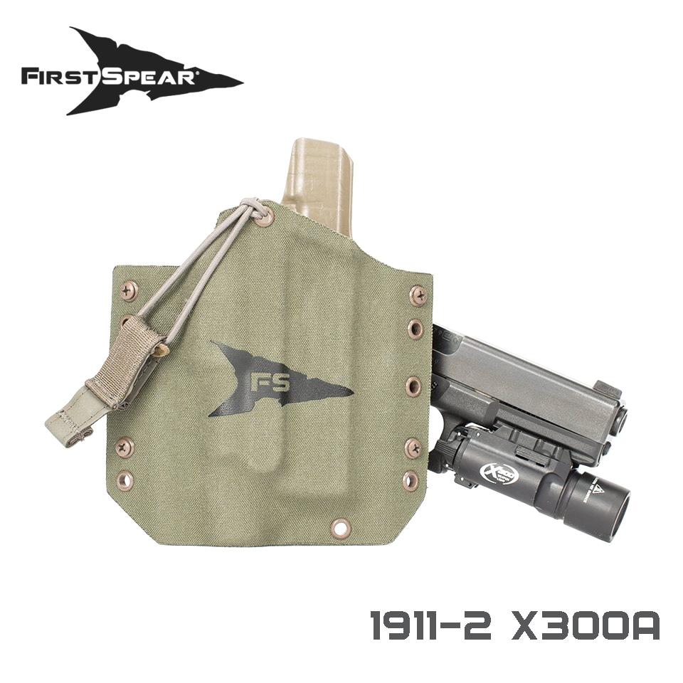 SSV Pistol Holster, Weapon Light - 1911-2 X300U-A