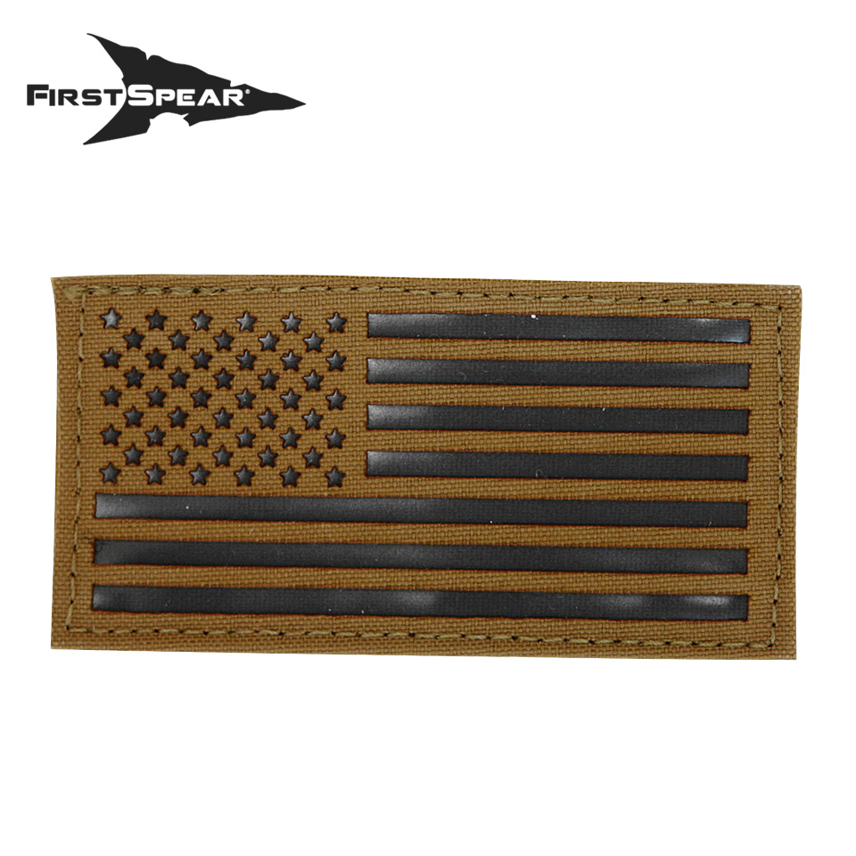 "Cell Tag IFF Patch 2.x4"" American Flag Standard - Letter Color Black"