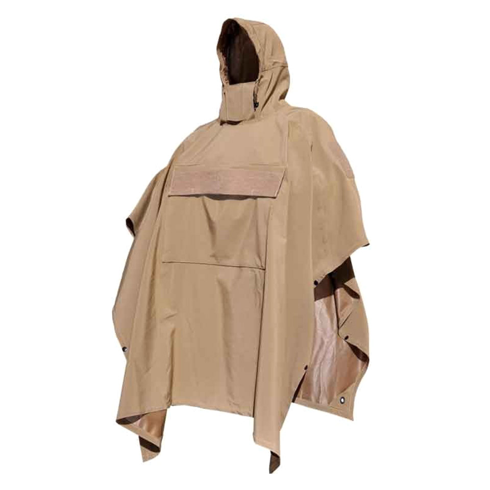 Poncho Villa - technical soft-shell poncho