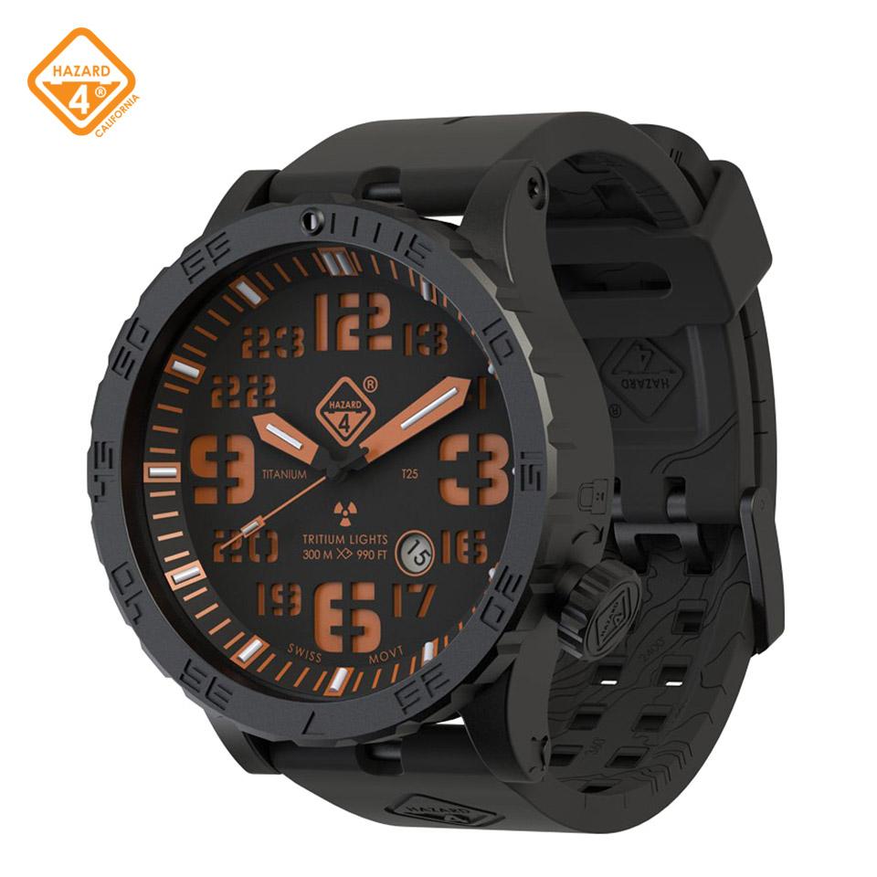 HWD Agent Orange - titanium tritium dive-watches