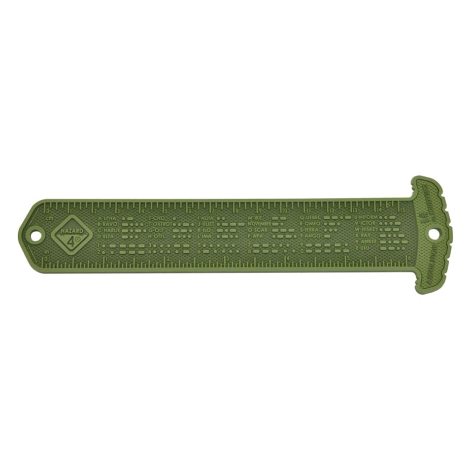 Cheatstick #1 Morse/Ruler - molle reference patches - OD Green