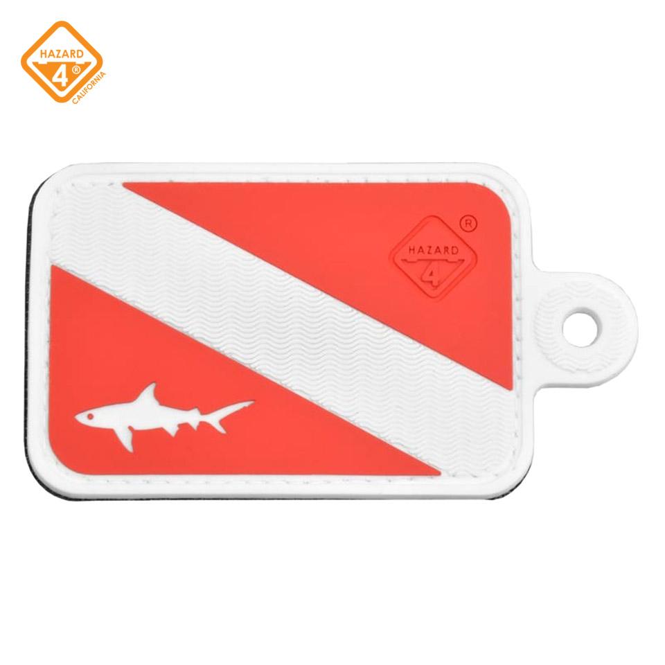 Dive Shark - rubber velcro patch
