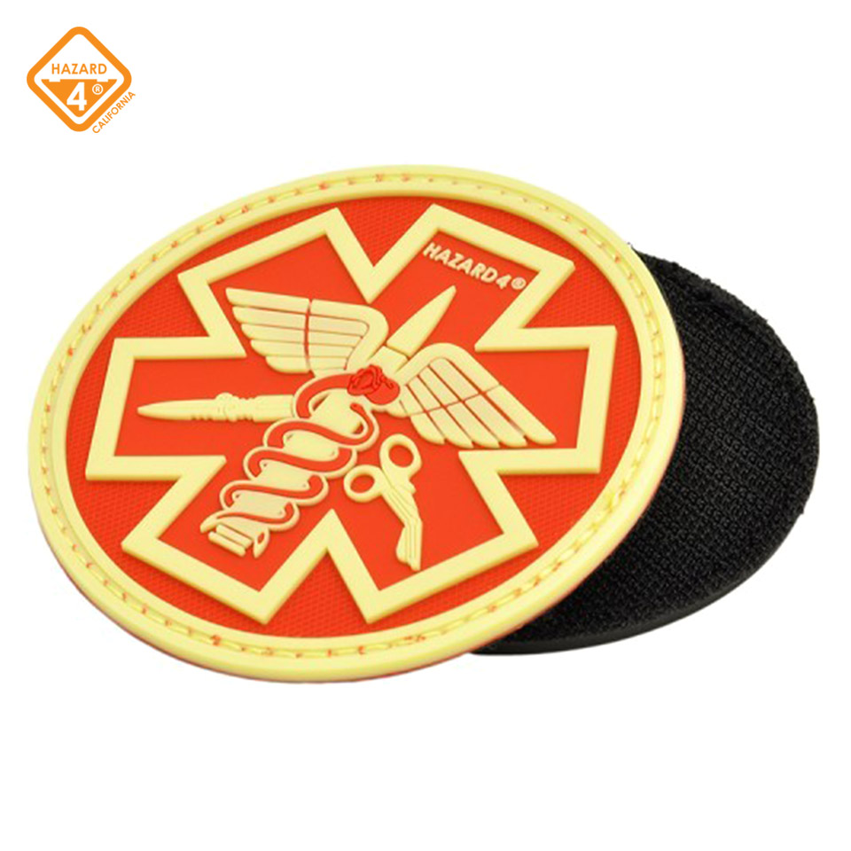 Battle Paramedic Rubber Velcro Patch