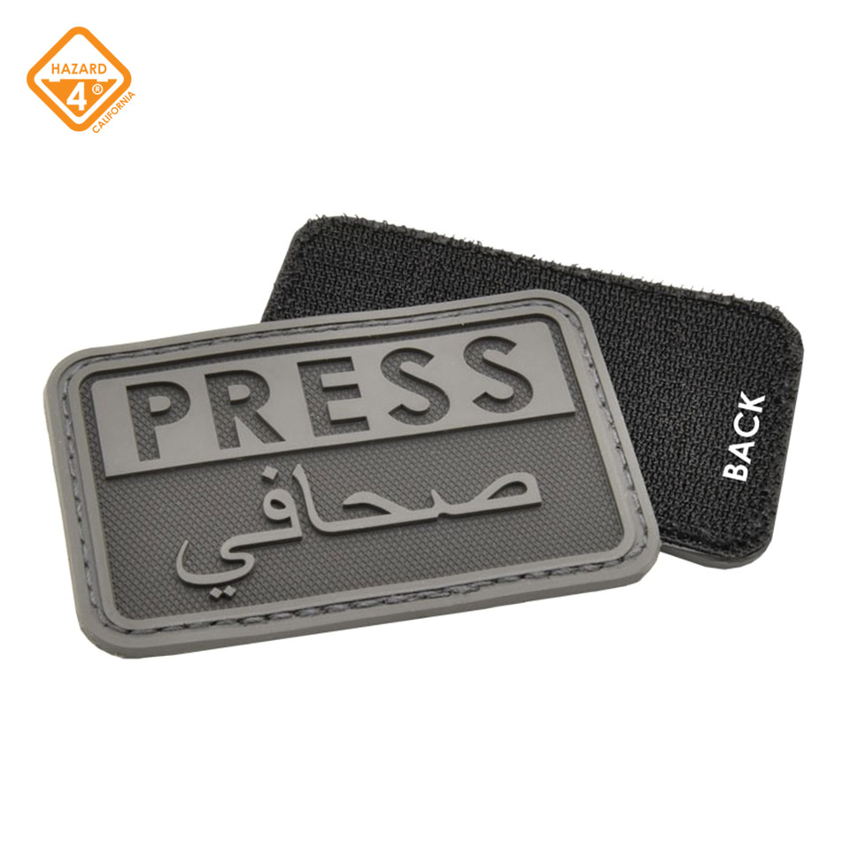 Press/Arabic - reporter rubber velcro patch