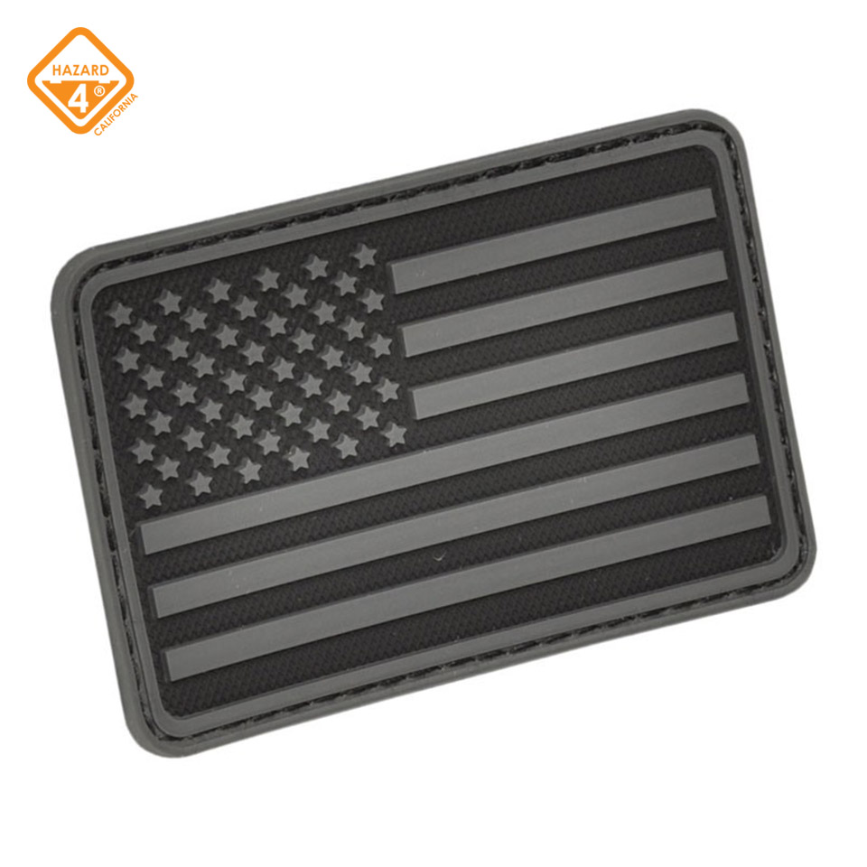 USA Flag (Left Arm) Rubber 3D Velcro Morale Patch