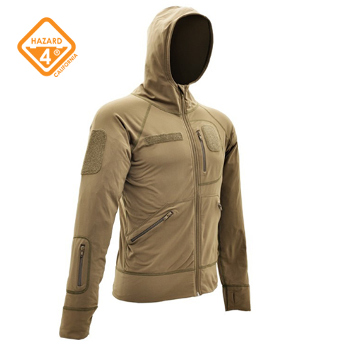 Beachhead fuzzy lycra hoodie - Tan