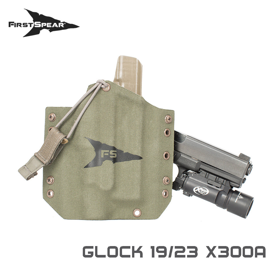 SSV Pistol Holster, Weapon Light - Glock G19/23 X300U-A