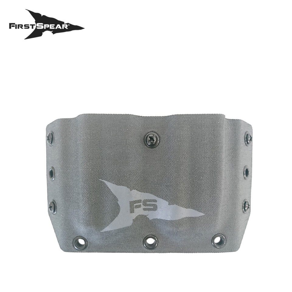 SSV Belt Mounted Double Magazine Pocket, Pistol - Manatee Grey
