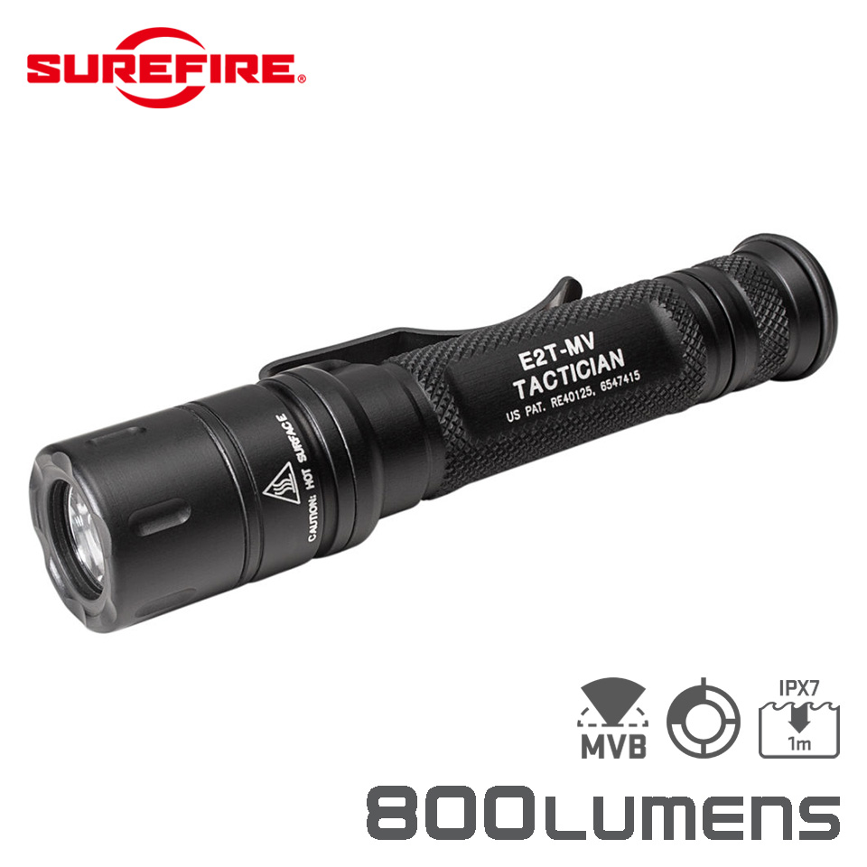E2T MAXVISION TACTICIAN - Dual-Output MaxVision Beam LED Flashlight