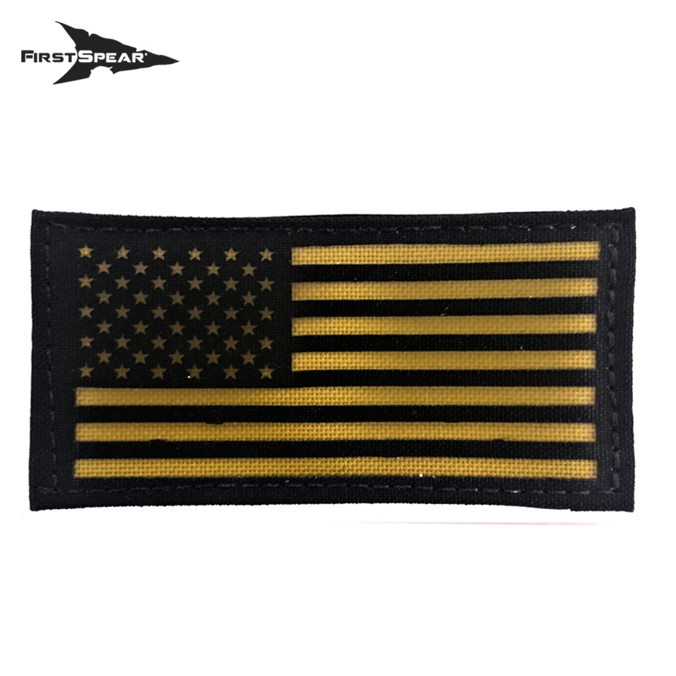 "Cell Tag IFF Patch 2.x4"" American Flag Standard - Letter Color Yellow"