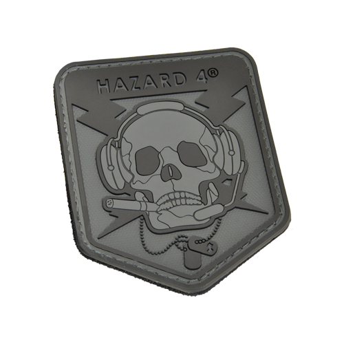 Operator Skull rubber velcro patch